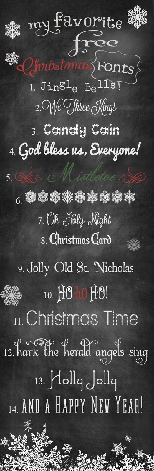 FREE Beautiful Holiday Fonts!.