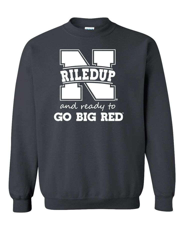 "Nebraska Cornhuskers Football ""RiledUp"" Crewneck Sweatshirt"