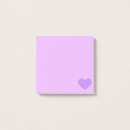 #Purple Emoji Heart Post-it Notes - #giftsforhim #gift #him