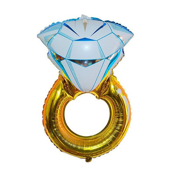These Large 32 Diamond Ring Balloon is sure to add a lovely touch to your event decor  Quantity: One (1) Balloon   Engagement Party Bridal Shower