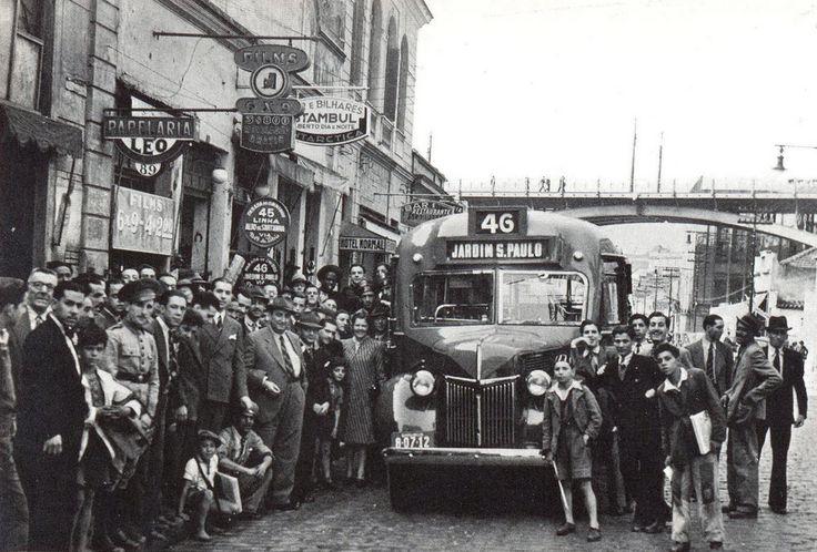 Primeira linha de ônibus no Jardim São Paulo, 1938