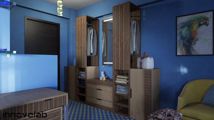 #blueandyellow #interiordesign