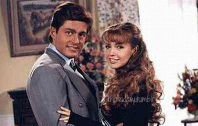 Fernando Colunga and Thalia at the Maria la Del Barrio set of Episode 23, 1995