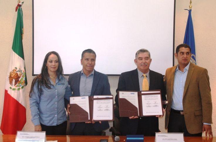 El Ayuntamiento de Morelia, a través del IMDE, signó un convenio de colaboración con la UVAQ en beneficio de miles de estudiantes de esta última institución – Morelia, Michoacán, 19 ...
