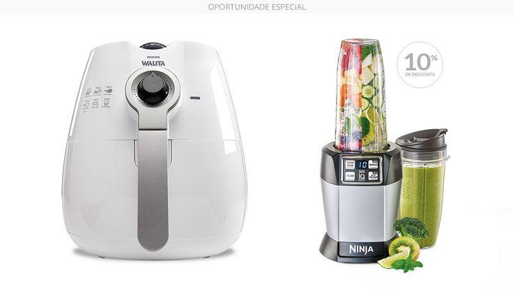 Kit Gourmet - Fritadeira Airfryer + Nutri Ninja - Polishop