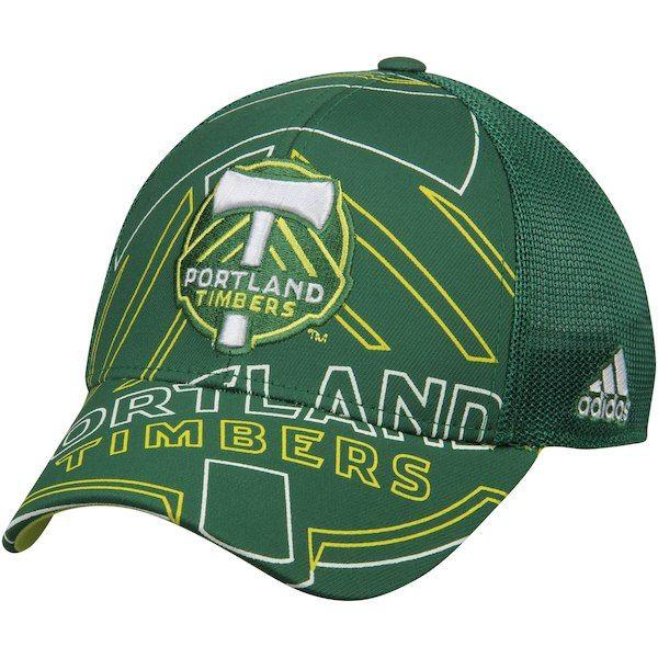 466ca139ba Men's Portland Timbers adidas Green Flex Meshback Structured Hat ...