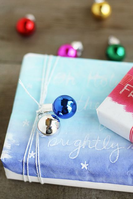 DIY painted wrapping paper