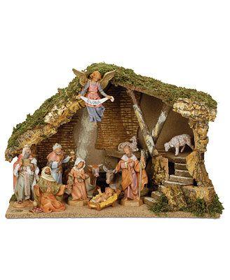 Roman Fontanini Italian Stable 11 Piece Set Nativity Scene