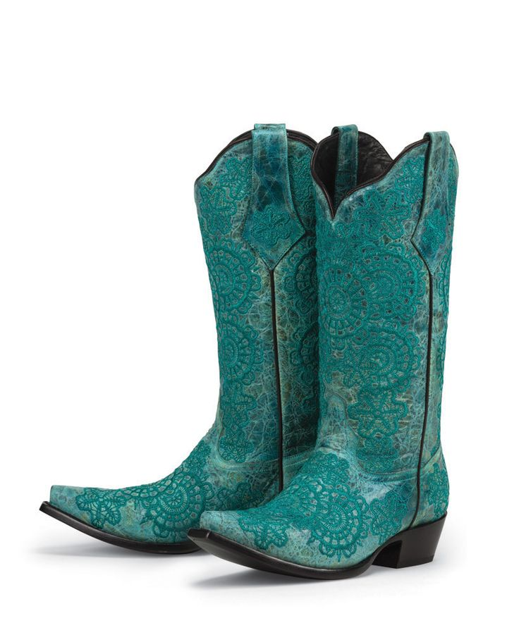 Turquoise Cowboy Boots for Women