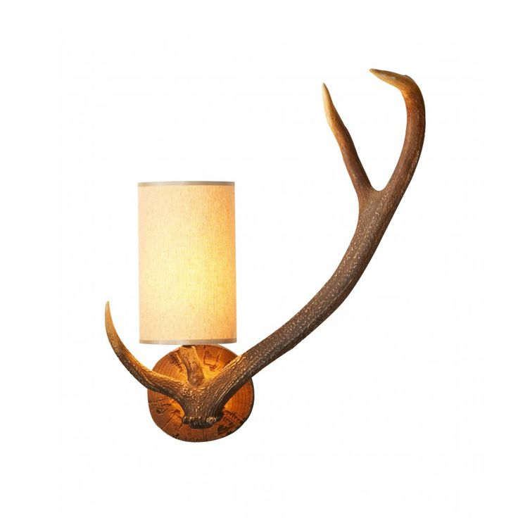 David Hunt Lighting ANT0729R Antler Wall Right Hand with SO41 Shade