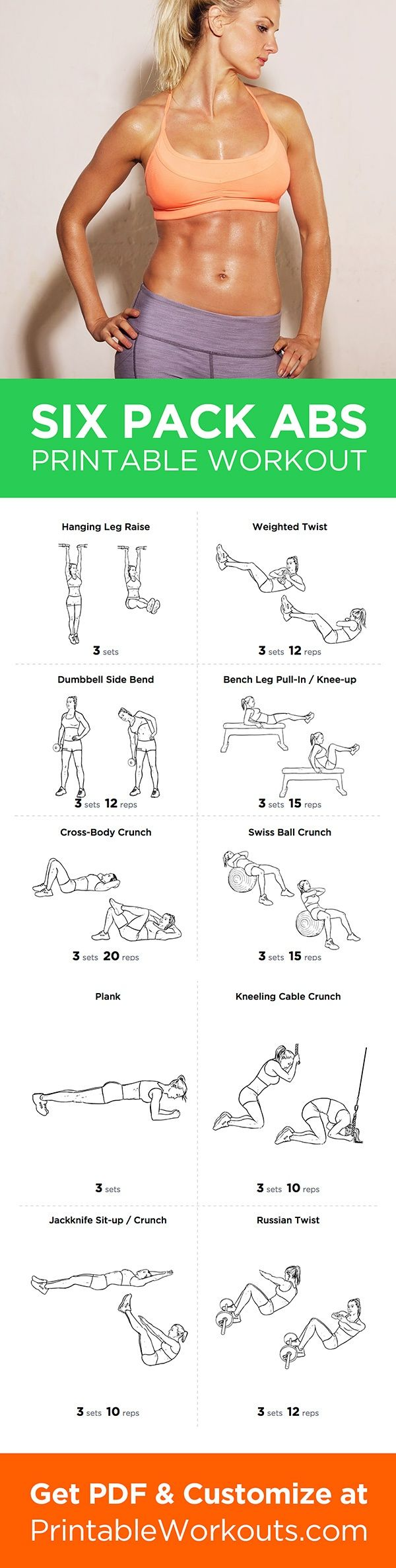 Intrepid image in printable ab workout
