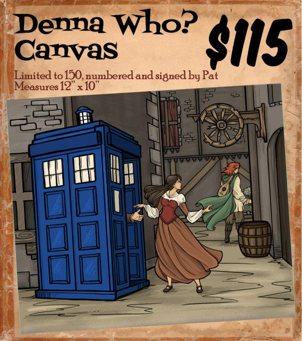 Denna Who: Doctor Who / Name of the Wind crossover. Geeks Doing Good 2015   Indiegogo