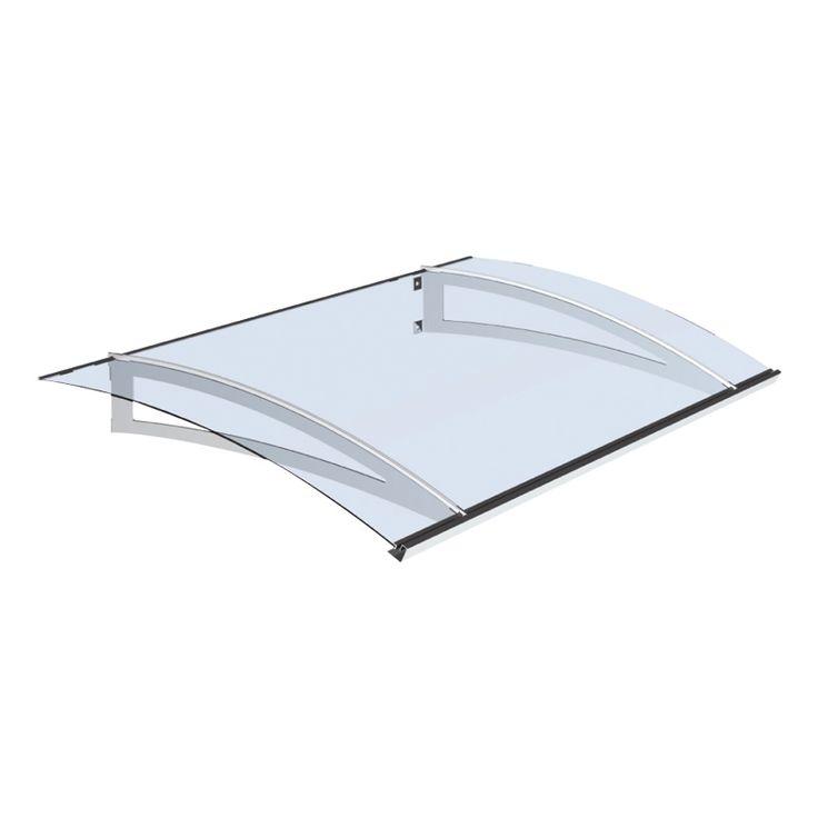 Komplett entrétak med stålprofiler och matt/vit skiva i akryl Profilerna är av väderbeständigt material och galvaniserat stål. Akrylskivan är smidig a