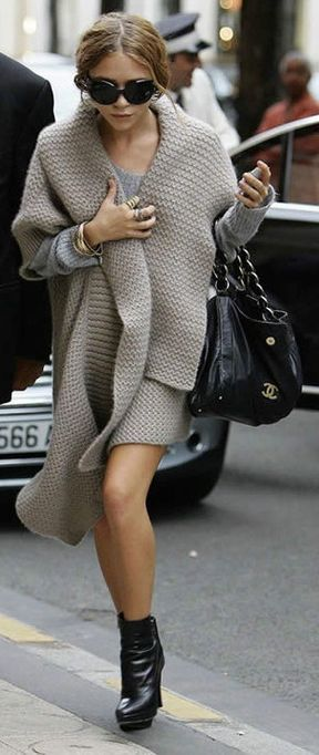 I love chunky knits, over size cardigans, and sweaters