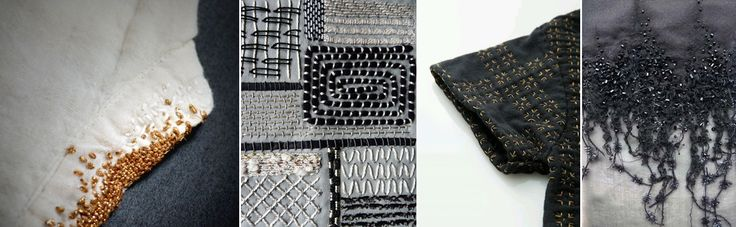 Punky stitches in fashion & art #embroidery #stitches #textile #imperfectdesign #kintsugi #trends #fashion #art #crafts