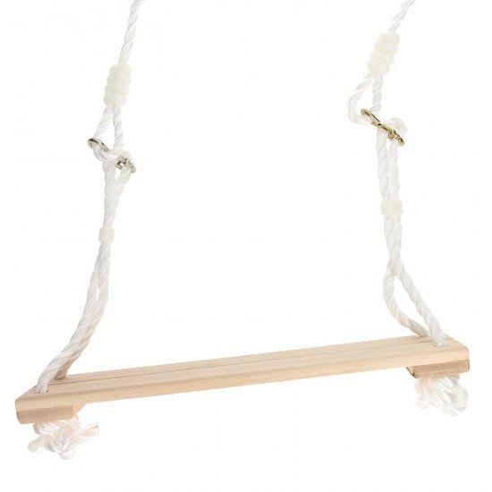 Houten Schommel 40×14 cm met stevig touw en haken