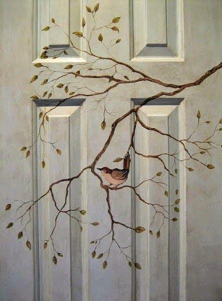 Dishfunctional provedeních: Krásné unikátním malovaným Dveře - uvnitř i venku