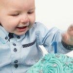 Cake smash jongen 1 jaar. www.cakeandcrumbles.nl