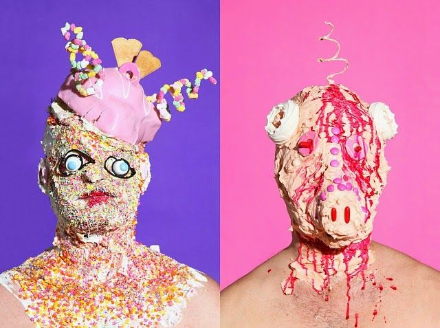 Grotesque photos of People Covered by Sweets and Junk Food - See more at: http://www.placesamazing.com