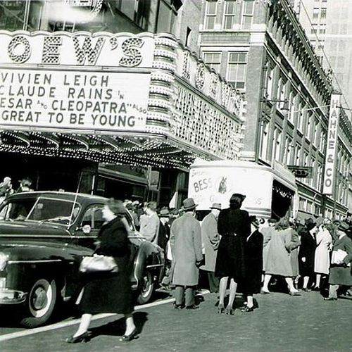 Loew 39 S Theater Circa 1950 Newark Nj Vintage New