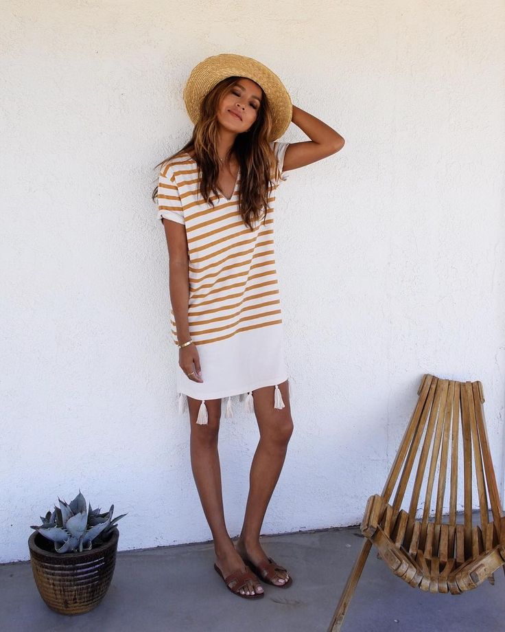 sincerelyjulesAlways happy in stripes. ☀️ NEW Selma t-shirt dress! @shop_sincerelyjules / shopsincerelyjules.com