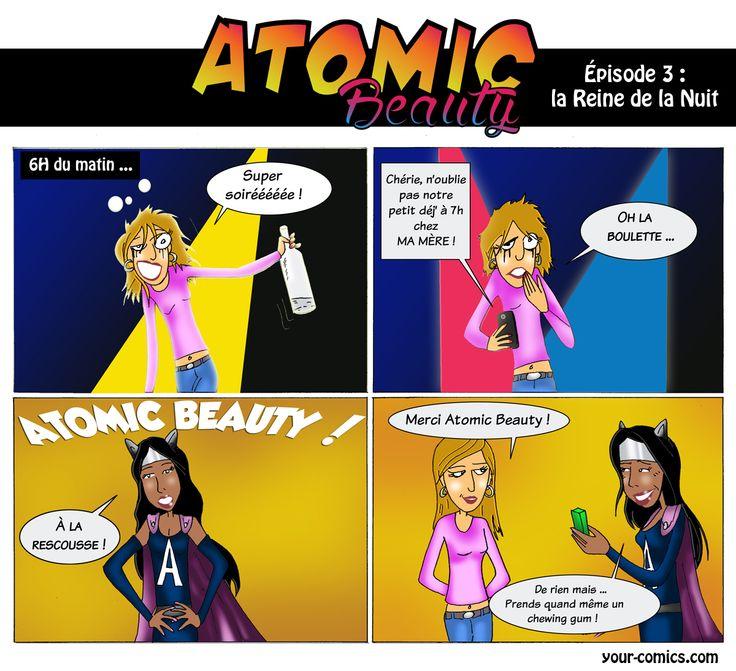 """Vive la beauté """"décalée"""" avec l'épisode #3 d'Atomic Beauty intitulé """"La reine de la nuit"""". Bonne lecture les chéris   RDV chaque lundi à 18h sur https://www.facebook.com/labeauteselonuneparisienne pour suivre les épisodes de Atomic Beauty""""!  #ATOMICBEAUTY #BEAUTEPARISIENNE #BD #SUPERWOMAN #BEAUTYBLOGGER #BEAUTY #COMICS #YOURCOMICS #HEROES"""
