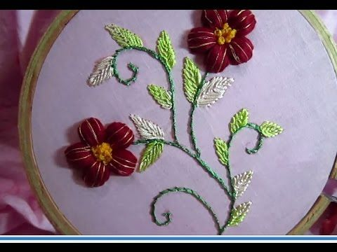 Hand Embroidery Designs | Cotton Puffed Flower | Stitch and Flower-69