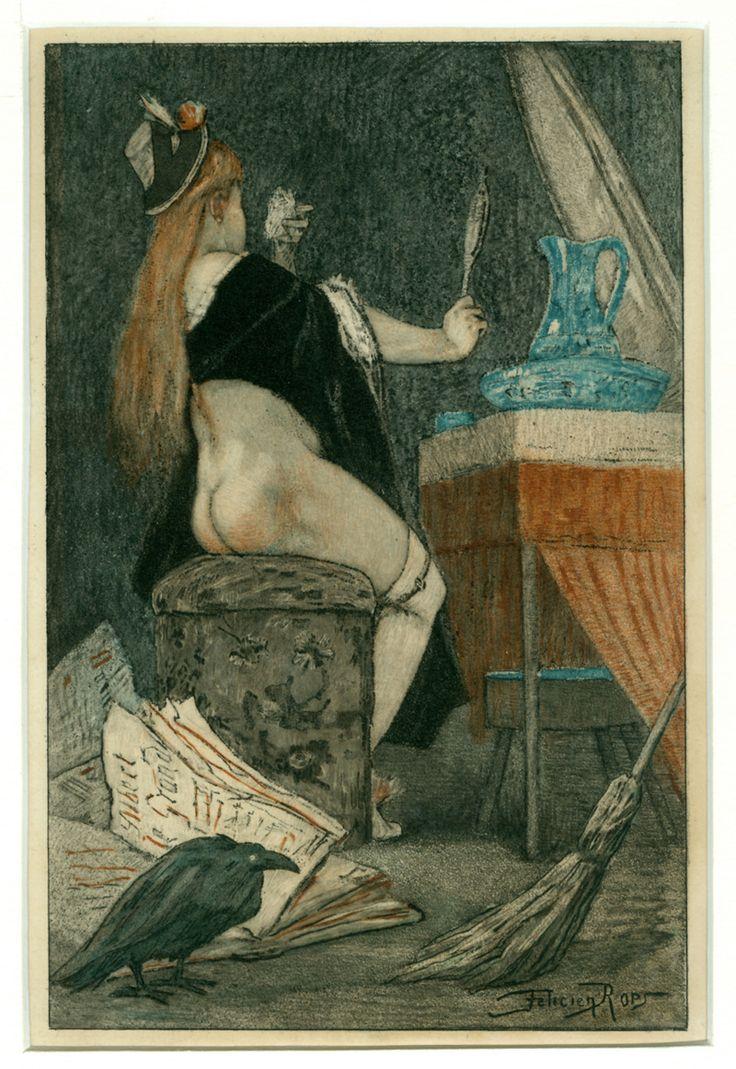 Felicien Rops (1833-1898): Petite sorcière. Farbige ...