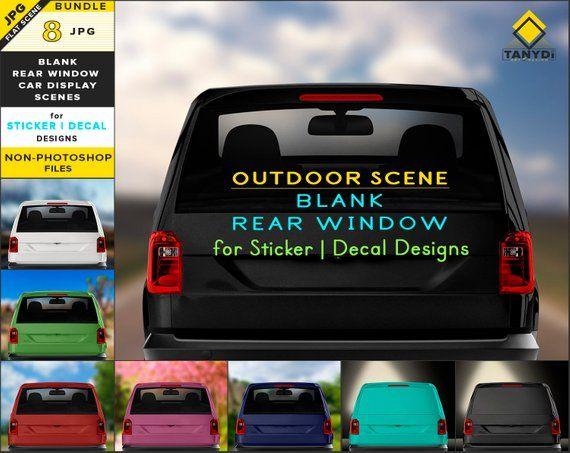 Blank Car Rear Window Jpg Mockup Bundle 8 Jpg Dark Light Etsy Light In The Dark Auto Glass Rear Window