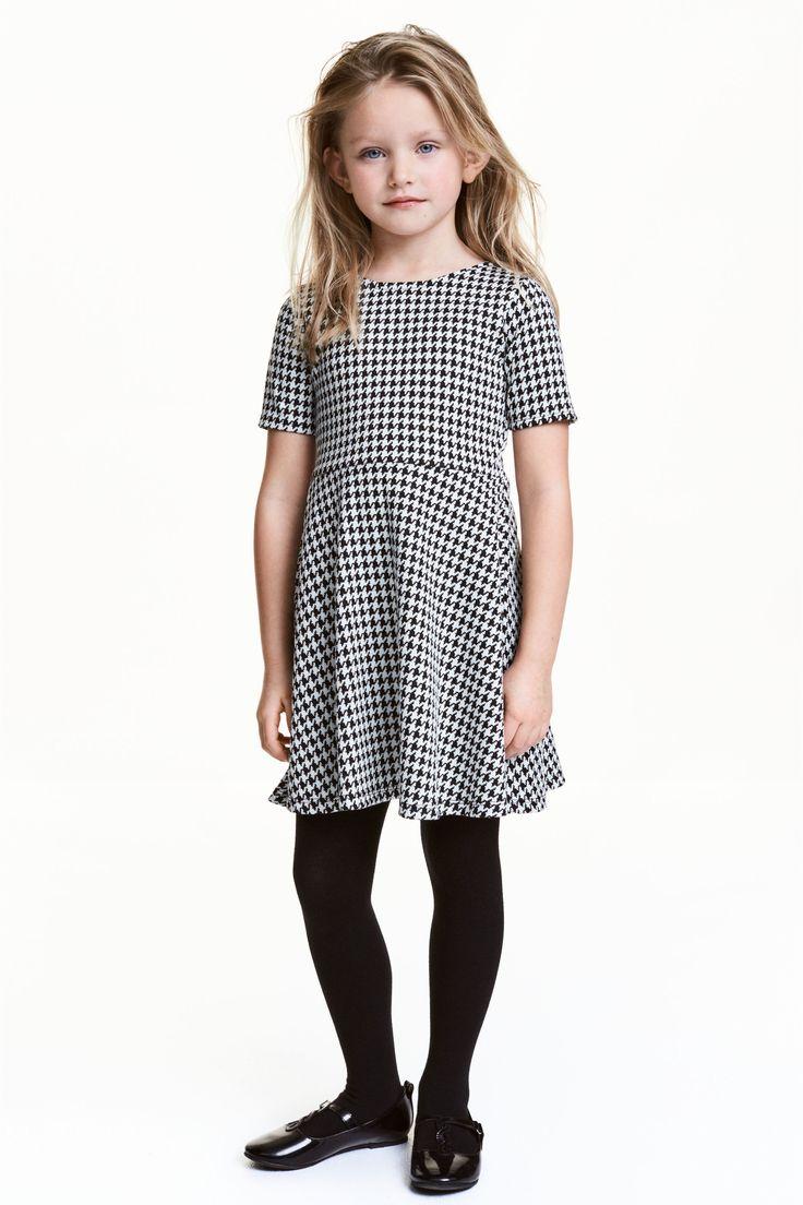 Vzorované šaty - Černá/bílá - DĚTI | H&M CZ 1
