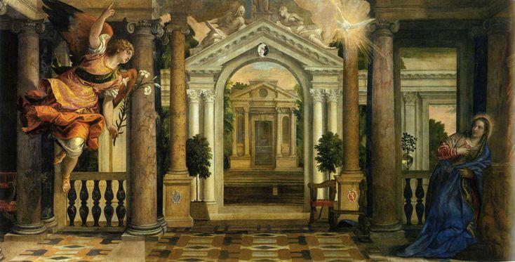 """Véronèse - """"L'Annonciation"""" - 1578 - Venise, Gallerie dell'Accademia"""