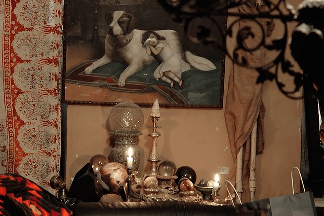 Rustam Khamdamov's old studio vignette... #bohemian lifestyle... photograph by Vsevolod Viasenko