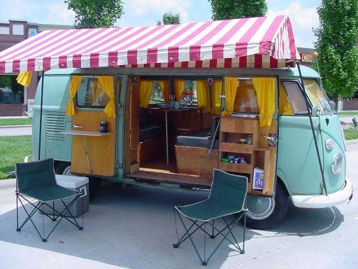 vintage VW Westfalia camper van