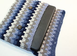 Vibrant V Stitch Crochet Laptop Sleeve