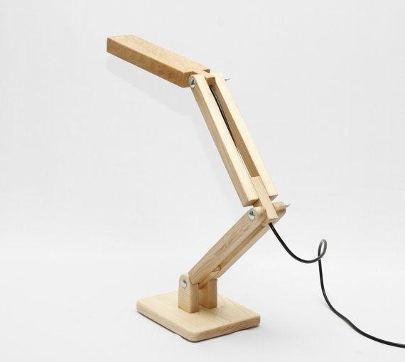Wooden LED Desk Lamp DL013 by blackgizmo on Etsy