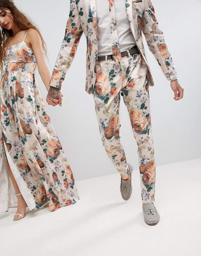 4895cc60a91ed6 ASOS Wedding Super Skinny Suit Pants In Champagne Floral- This suit can  only be worn as a couple #ad