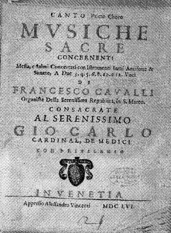 Document regarding  Francisco  Cavalli