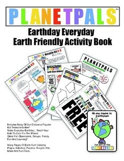 Planetpals Earthday Everyday Book    Exclusive Earth friendly activities for kids.