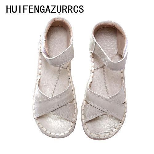 Купить товарHuifengazurrcs босоножки из натуральной кожи, белые туфли ручной работы, художественная обувь в стиле ретро «Mori Girl» туфли на плоской подошве, модная повседневная обувь в категории Сандалиина AliExpress. Huifengazurrcs-босоножки из натуральной кожи, белые туфли ручной работы, художественная обувь в стиле ретро «Mori Girl» туфли на плоской подошве, модная повседневная обувь