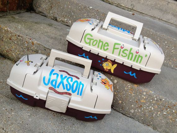 Springtime is here!!! MUST HAVE for every little boy!! Cute Fun Custom Personalized Kid's GONE FISHIN' by WhatchawantDesign