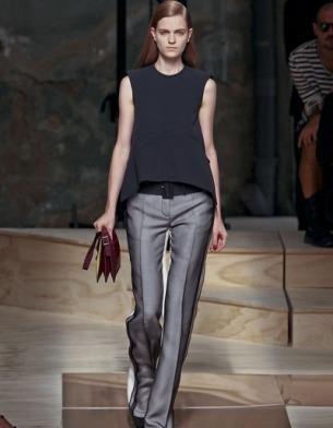 Женские черные брюки с лампасами