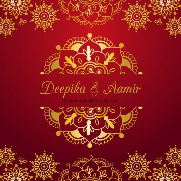 Indian Wedding Card On A Red Background Indian Wedding Invitation Cards Wedding Card Design Indian Hindu Wedding Cards