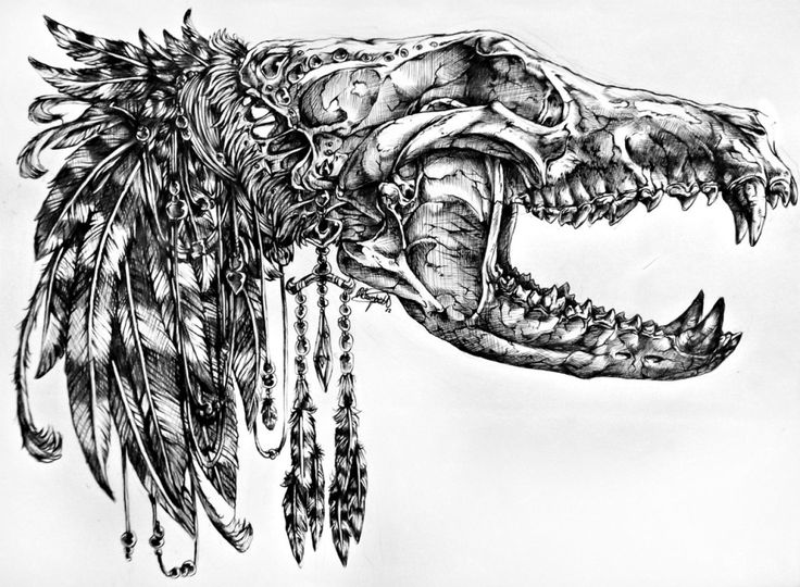 how to draw dead animal bones easy