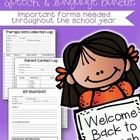 "Welcome Back Speech Pack! Don't waste time creating a ""Welcome Back"" letter, parent contact log & MORE. This pack has what you need to start th..."