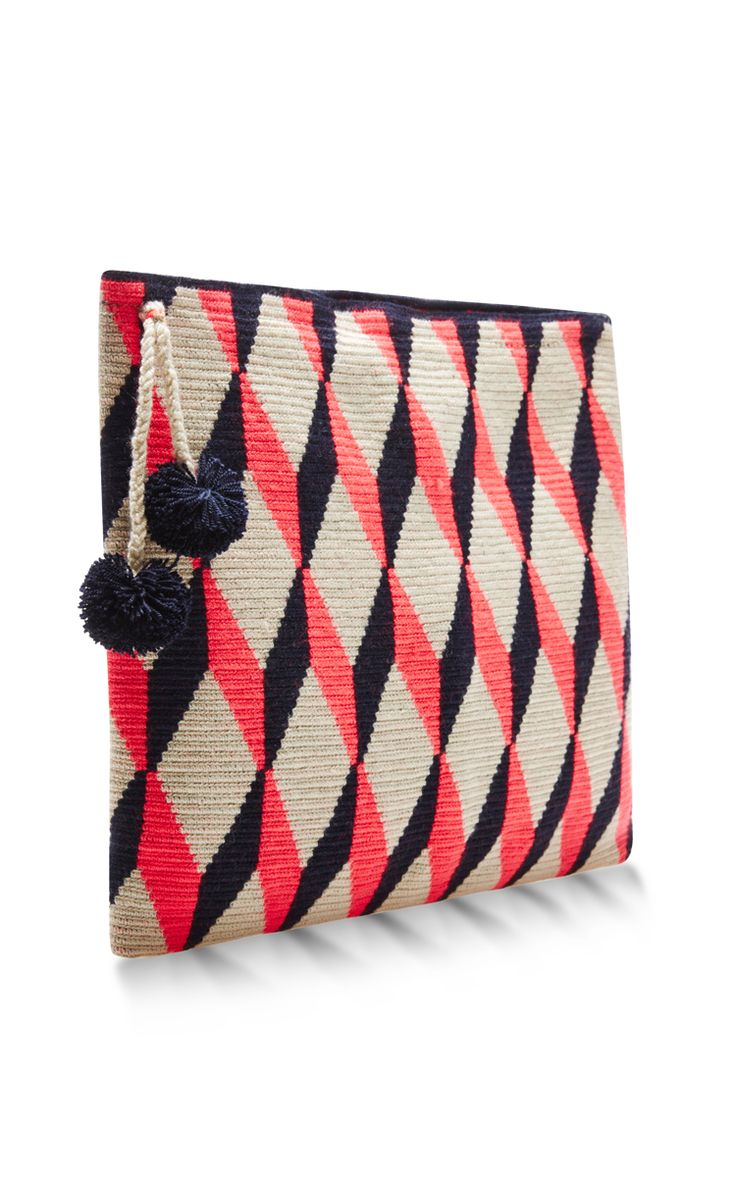 Handwoven Graphic Pouch by Sophie Anderson - Moda Operandi