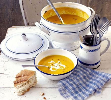 A satisfying soup which is delicately spiced and works well as a rustic starter