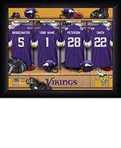 Personalized NFL Vikings Locker Room Print $34.98