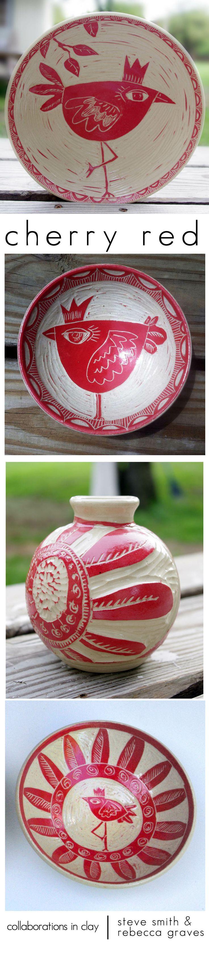by Steve Smith ___cherry red | rebecca graves steve smith | http://gravesandcompany.com/portfolio/ceramics/#
