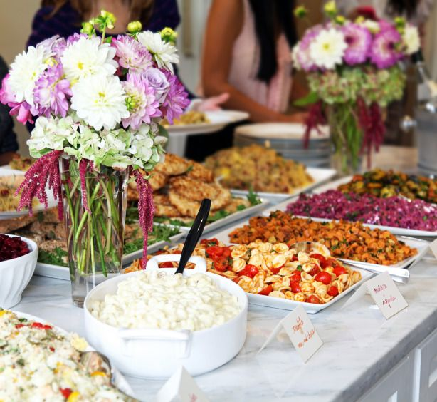 Brunch Food Ideas For Baby Shower: Bridal Shower Luncheon At Home