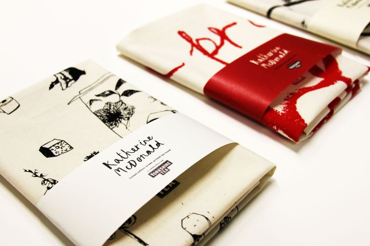 YCN Student Awards 2015 // Yorkshire Tea entry, limited edition screen printed tea towel designs